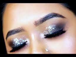 silver glitter eye makeup tutorial