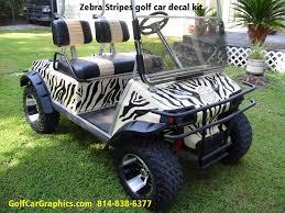 Zebra Golf Cart Decal Kit Golfcargraphics Com