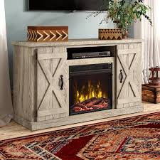 65 in tv stand with fireplace wayfair
