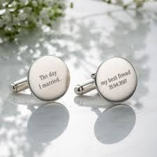 personalised wedding message cufflinks