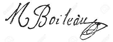 Signature De Nicolas Boileau-Despréaux (1636-1711), Illustration Vintage  Gravé. Dictionnaire Des Mots Et Des Choses - Larive Et Fleury - 1895. Clip  Art Libres De Droits , Vecteurs Et Illustration. Image 35185068.