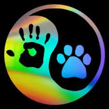Dog Paw Ying Yang Hand Print Sign Car Window Wall Door Decal Vinyl Sticker Ebay