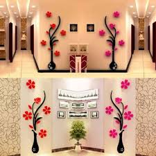 3d Vase Removable Flower Tree Crystal Acrylic Wall Sticker Home Decor Wall Stickers Home Decor Wall Sticker Design Wall Stickers Home