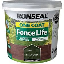 Ronseal One Coat Fence Life Forest Green Exterior Wood Paint 5l Wilko