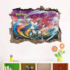 Pokemon Go Pikachu Mural Wall Decals Sticker Kids Room Decor Removable Vinyl Us