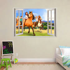 Spirit Riding Free 3d Window Removable Wall Sticker Decal Diy Mural Kids Nursery Ebay