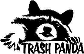 Amazon Com Tgs Topshop Raccoon Trash Panda Decal Window Bumper Sticker Car Funny Cute Wildlife Animals Car Stickers 15cm Kitchen Dining