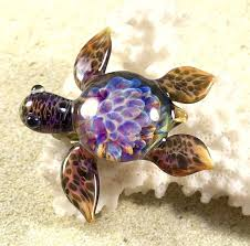 baby sea turtle necklace glass beads