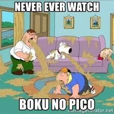never ever watch boku no pico - vomiting | Meme Generator