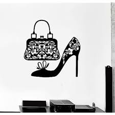 Amazon Com V Studios Wall Decal Shoes Women Handbag Fashion Shopping Vinyl Stickers Vs2932 Home Kitchen