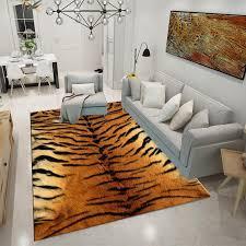 rug doormat fur leather leopard print