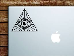 All Seeing Illuminati Eye Laptop Apple Macbook Car Quote Wall Decal St Boop Decals