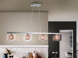 lios 4 light bar pendant chrome copper