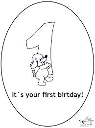 Hoera 1 Jaar Kleurplaten Verjaardag