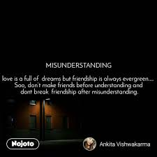 misunderstanding love is a full of dreams but fr nojoto
