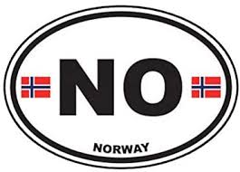 Amazon Com Norway Oval Sticker Decal Norwegian Country Code Euro No V1 Truck Car Decal Vinyl Bumper Sticker Sticks To Any Surface 5 Kitchen Dining