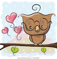 cute cartoon owl glasses sitting on