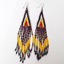african zulu beaded earrings