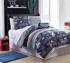 pc reversible train comforter set bed