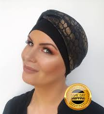 turban hat for hair loss two colours