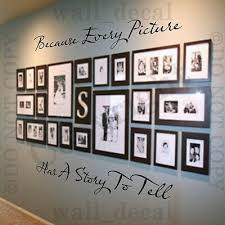 Because Every Picture Has A Story To Tell Wall Decal Vinyl Decor Words Sticker Ebay
