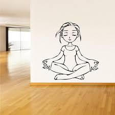 Wall Decal Vinyl Decal Sticker Decals Yoga Girl Relax Lotos Om Z1463 Stickersforlife