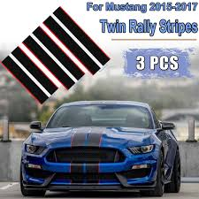 3pcs Car Body Twin Rally Stripes Graphics Decal Sticker For Mustang 2015 2017 Car Decal Vinyl Stickers Hood Dual Racing Stripe Buy At The Price Of 32 83 In Aliexpress Com Imall Com