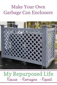 Make Your Own Garbage Can Enclosure Or Trash Can Corral Improve Your Curb Appeal By Hiding Those Unsi Outdoor Trash Cans Trash Can Storage Outdoor Garbage Can