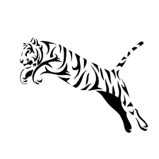 Mighty Jumping Tiger Vinyl Creative Car Or Truck Decal Catrescue