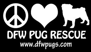 Peace Love Pugs Vinyl Decal Sticker