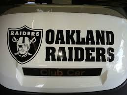 Oakland Raiders Shield With Lettering Nfl Football Vinyl Decal Car Window