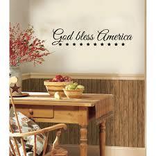 August Grove Pitre God Bless America Vinyl Graphic Word Wall Decal Wayfair