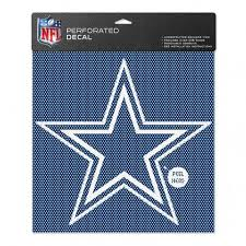 Dallas Cowboys Perforated Vinyl Decal 12 X 12 Hawkins Footwear Sports Military Dixie Store