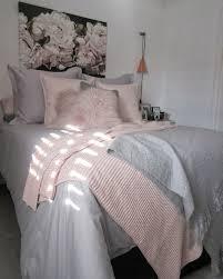 grey bedding blush pink throw