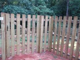 6 Spaced Dog Eared Stockade Fences