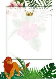 Free Printable Simba Lion King Birthday Invitation Templates Di