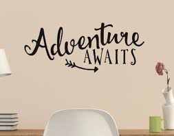 Adventure Awaits With Arrow Vinyl Wall Quote Sticker Wall Decal Decor Word Factory Design