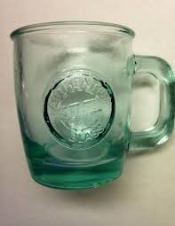 recycled glass coffee mug cup made in