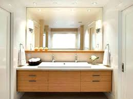 bathroom light mirror round lighted