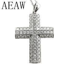 aeaw solid 14k white gold lab grown
