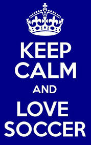 keep calm and love soccer on we heart it