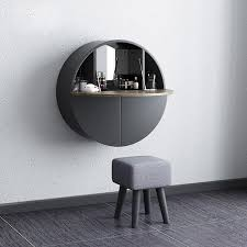 modern round wall mount makeup vanity