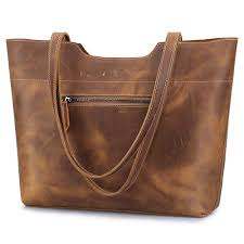medium leather tote bag with zipper