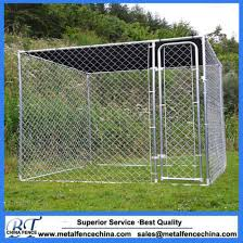 China Wholesale Large 10ft X 10 Ft X 6ft Outdoor Chain Link Dog Kennels China Dog Kennel And Metal Dog Kennel Price