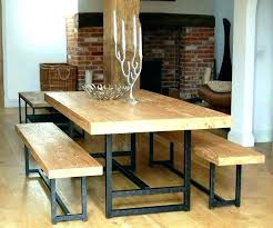 wooden dining table set with glass top