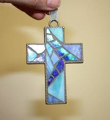 jewelry stained glass rustic boho cross