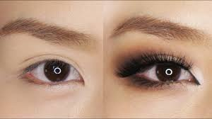 smokey eye makeup for hooded or asian