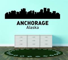 Amazon Com Anchorage Alaska United States Major City Geographical Map Landmark Living Room Bedroom Home Decor Picture Art Graphic Design Mural Image Vinyl Wall Decal Reduced Sale Price 30x64 Kitchen