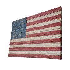 hand painted metal rustic american flag