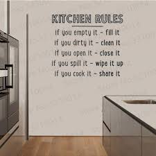Kitchen Rules Wall Quote Decal Kitchen Wall Sticker Decal Sticker Typography Decal Chef Art Kitchen Rules Pw134 Sergopa Pena834